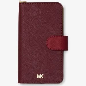 Michael Kors Color Block Folio Case iPhone X